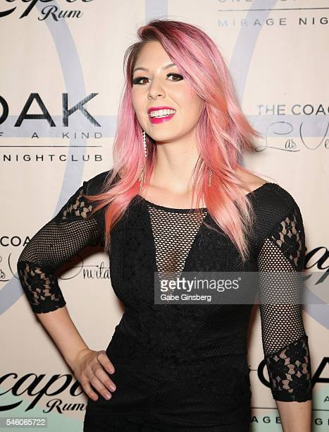 Model Annalee Belle attends the Coach Woodson Las Vegas Invitational red carpet and pairings party at 1 OAK Nightclub at The Mirage Hotel Casino on...