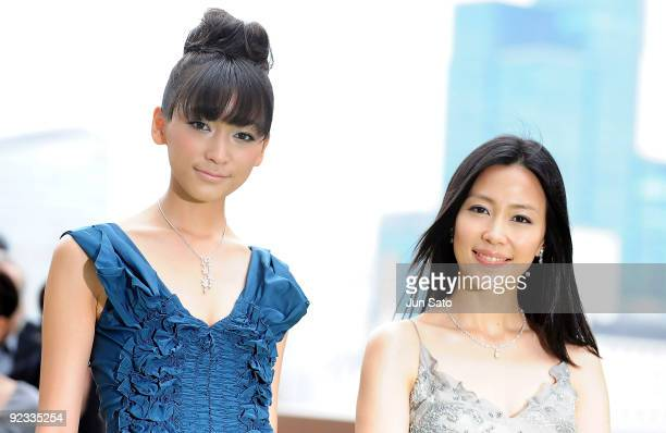 Model Anne and actress Yoshino Kimura attend the 22nd Tokyo International Film Festival Closing Ceremony at Roppongi Hills on October 25, 2009 in...