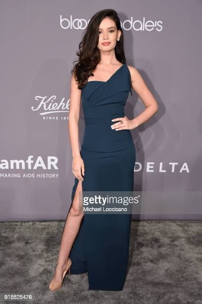 Model Anne de Paula attends the 2018 amfAR Gala New York at Cipriani Wall Street on February 7 2018 in New York City