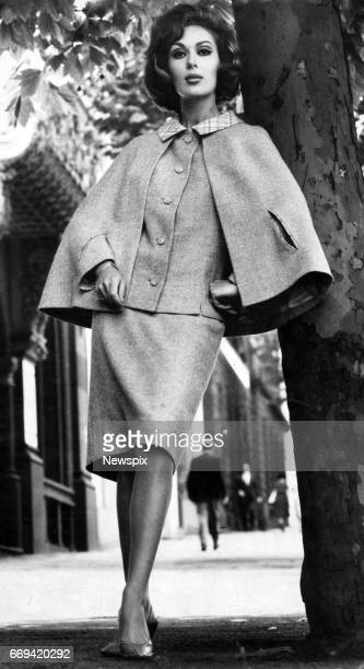 MELBOURNE VIC Model Anne Hamilton wears the Designer's Award winner in the Australian Wool Board's 1964 Gold Medal Wool Fashion Awards in Melbourne...