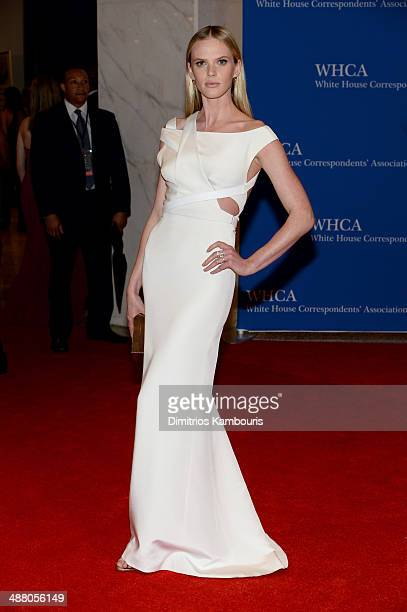 Model Anne V attends the 100th Annual White House Correspondents' Association Dinner at the Washington Hilton on May 3 2014 in Washington DC
