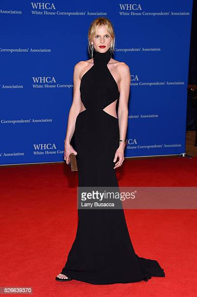 Model Anne V attends the 102nd White House Correspondents' Association Dinner on April 30 2016 in Washington DC
