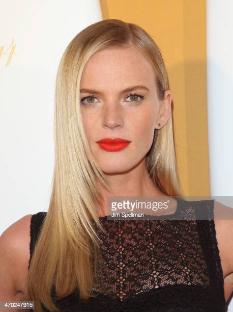 Model Anne V attends the Sports Illustrated Swimsuit 50th Anniversary Party at Swimsuit Beach House on February 18 2014 in New York City