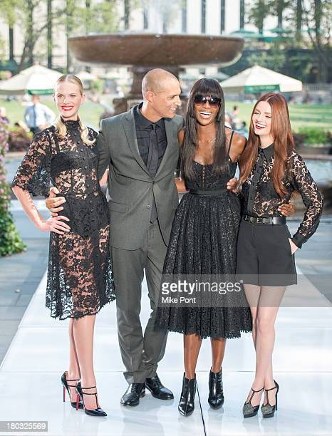 Model Anne V Host/Photographer Nigel Barker Model Naomi Campbell and Model Lydia Hearst attend 'The Face' Season 2 Pop Up Fashion Show at Bryant Park...