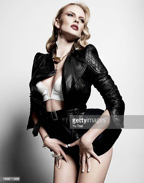 Model Anne V is photographed for a fashion editorial for Flaunt Magazine on March 8 2013 in Los Angeles California PUBLISHED IMAGE