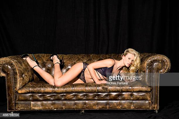 Model Anne V is photographed for Esquire Magazine on February 1 2014 in Los Angeles California