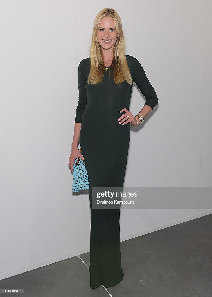 Model Anne Vyalitsyna attends 'Metal Works Photography: Sculptures' By Andrew Levitas Exhibition at Phillips de Pury & Company on July 12, 2012 in New York City.