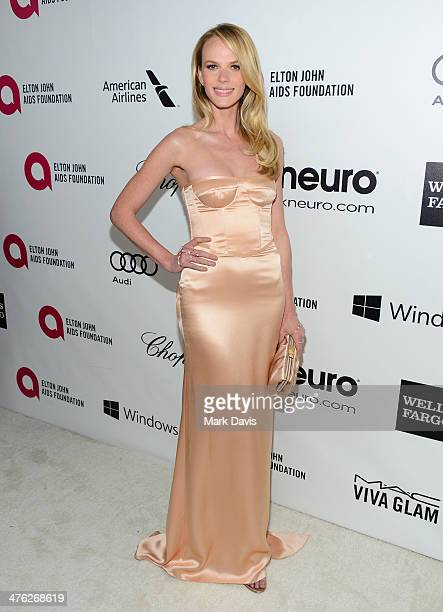Model Anne Vyalitsyna attends the 22nd Annual Elton John AIDS Foundation's Oscar Viewing Party on March 2 2014 in Los Angeles California