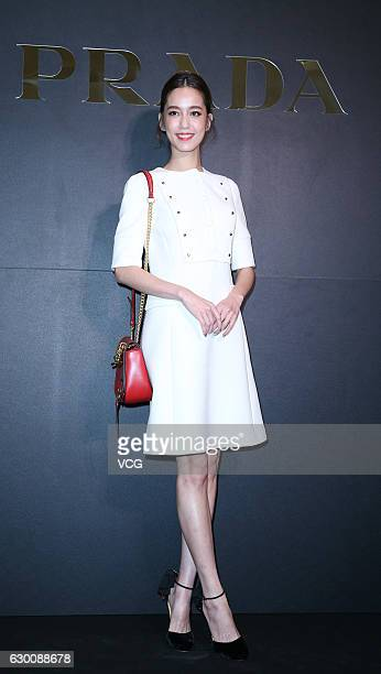 Model Annie Chen attends Prada Christmas Charity Party on December 15 2016 in Taipei Taiwan of China