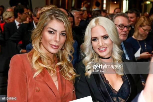 Model Annika Gassner and Model Sarah Knappik during the VDZ Publishers' Night at Deutsche Telekom's representative office on November 6 2017 in...