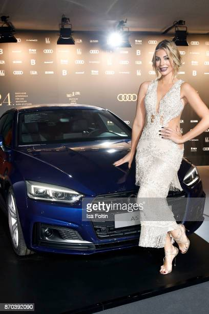 Model Annika Gassner arrives at the 24th Opera Gala at Deutsche Oper Berlin on November 4, 2017 in Berlin, Germany.