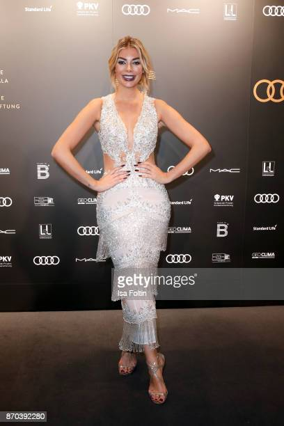 Model Annika Gassner arrives at the 24th Opera Gala at Deutsche Oper Berlin on November 4 2017 in Berlin Germany