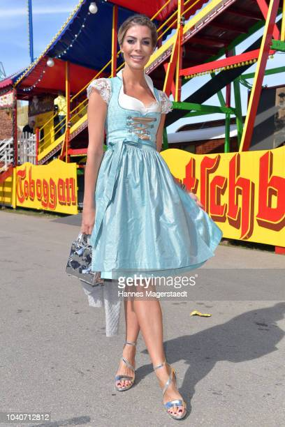 Model Annika Gassner during the charity lunch in favor of the Frohes Herz e.V. As part of the Oktoberfest 2018 at Zur Bratwurst tent at...