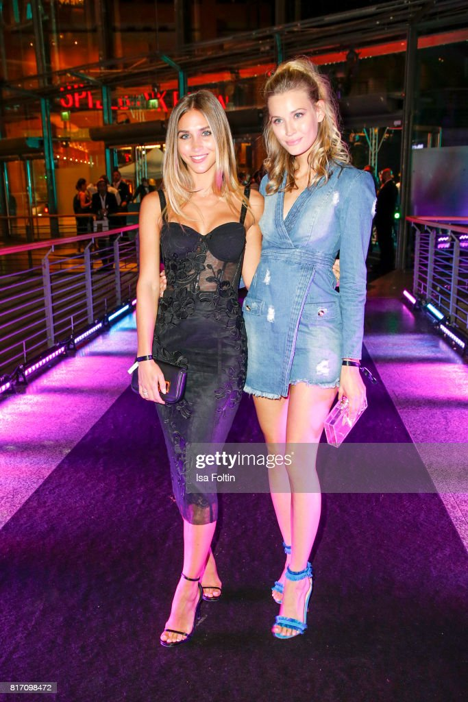 Model Ann-Kathrin Broemmel and model Mandy Bork attend the 'Atomic Blonde' World Premiere at Stage Theater on July 17, 2017 in Berlin, Germany.