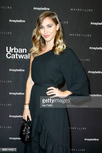 Model Ann-Kathrin Broemmel during the Maybelline Show 'Urban Catwalk - Faces of New York' at Vollgutlager on January 18, 2018 in Berlin, Germany.