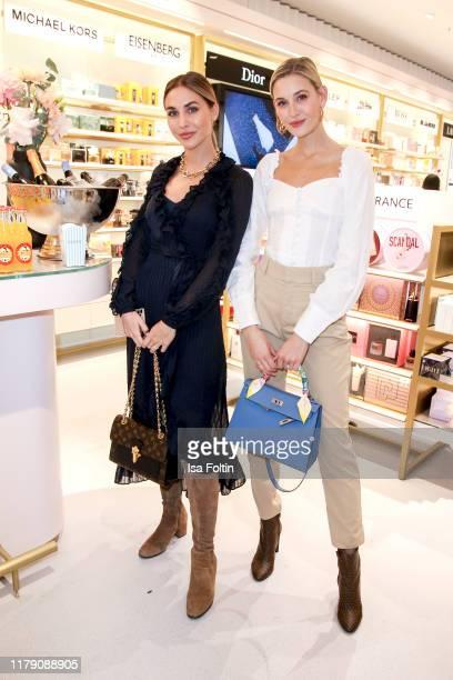 Model AnnKathrin Goetze AnnKathrin Broemmel and model and influencer Mandy Bork attend the Douglas FlagshipStore Opening on October 30 2019 in Berlin...