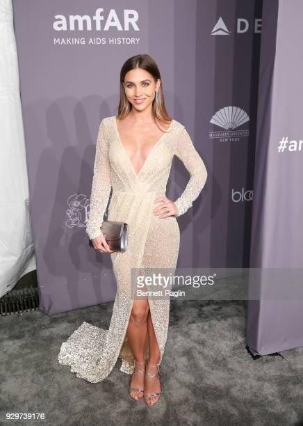 Model AnnKathrin Vida attends the 2018 amfAR Gala New York at Cipriani Wall Street on February 7 2018 in New York City