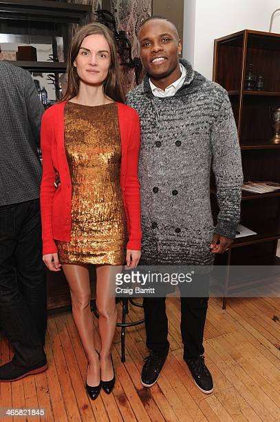 Model Anouck Lepere and Middleweight World Champion Peter Quillin attend Time Warner Cable Studios Presents SHOWTIME And Food Network's Ultimate...