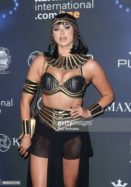 Model Antje Utgaard attends the 2017 Maxim Halloween party at Los Angeles Center Studios on October 21 2017 in Los Angeles California
