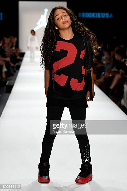 Model Antonia Gorga walks the runway at Rookie USA Presents Kids Rock fashion show during New York Fashion Week The Shows September 2016 at The Dock...