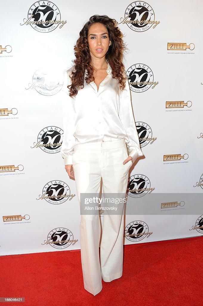 Model Anuhea Ceballos attends the Battaglia's 50th Anniversary of Quality & Elegance Celebration on November 14, 2013 in Beverly Hills, California.