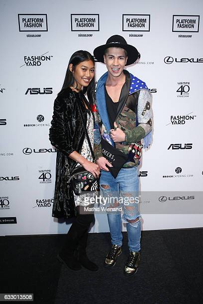 Model Anuthida Ploypetch and Maximilian Seitz attend the Fashionyard show during Platform Fashion January 2017 at Areal Boehler on January 29 2017 in...