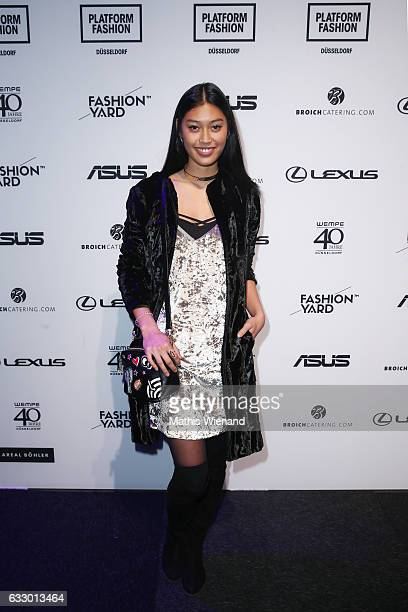 Model Anuthida Ploypetch attends the Fashionyard show during Platform Fashion January 2017 at Areal Boehler on January 29 2017 in Duesseldorf Germany