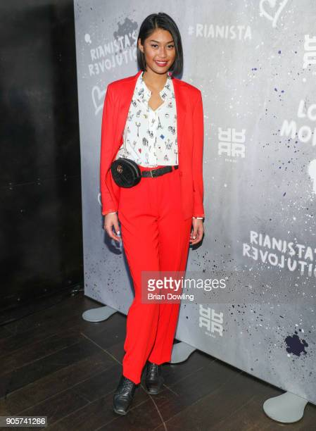Model Anuthida Ploypetch attends the Riani After Show Party during the MBFW Berlin January 2018 at Grace Restaurant on January 16 2018 in Berlin...