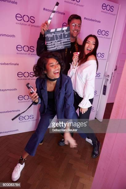 Model Anuthida Ploypetch influencer Jannik Stutzenberger and influencer Shanti Joan Tan attends Celebrating Women In Film hosted by Riccardo...