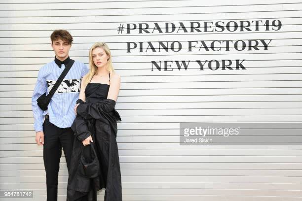 Model Anwar Hadid and Actor Nicola Peltz attend the Prada Resort 2019 fashion show on May 4 2018 in New York City