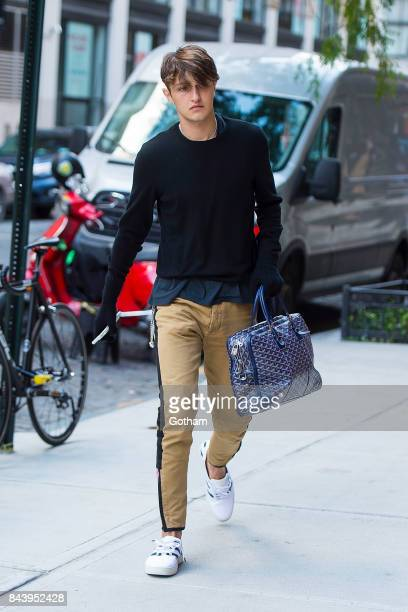 Model Anwar Hadid is seen NoHo on September 7 2017 in New York City