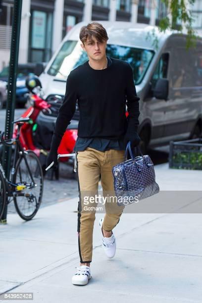 Model Anwar Hadid is seen NoHo on September 7, 2017 in New York City.