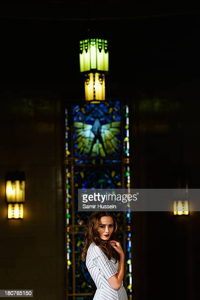 A model appears at the Natasha Zinko show during at the Fashion Scout venue during London Fashion Week SS14 at Freemasons Hall on September 16 2013...
