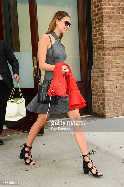 Model April Love Geary leaves a Tribeca hotel on June 9 2015 in New York City