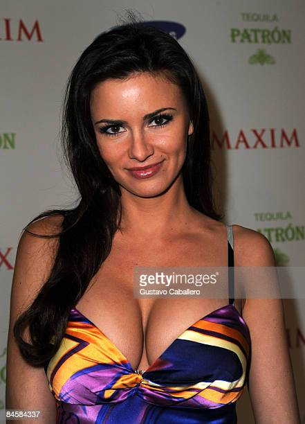 Model April Rose attends The Maxim Party hosted by Samsung Patron Gillette Pepsi Max to kick off Super Bowl Weekend at The Ritz Ybor on January 30...