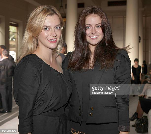 Model April Rose Pengilly and Gracie Otto attend the Camilla and Marc Spring/Summer 2010 runway show during Rosemount Australian Fashion Week