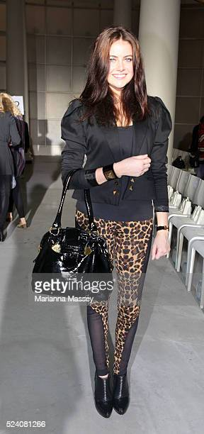 Model April Rose Pengilly attends the Camilla and Marc Spring/Summer 2010 runway show during Rosemount Australian Fashion Week
