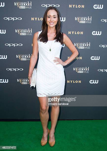 Model April Wilkner attends 'America's Next Top Model' Cycle 22 premiere party at Greystone Manor on July 28 2015 in West Hollywood California