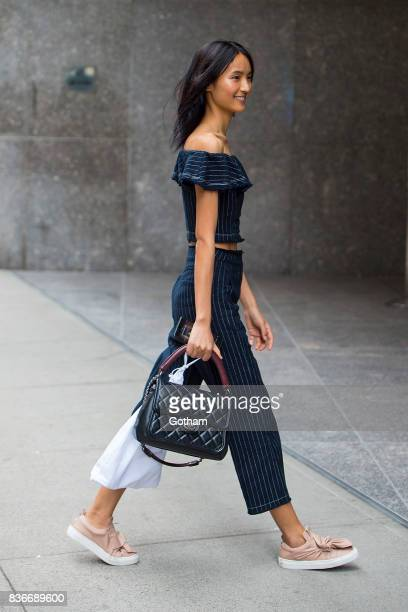 Model Aqua Parios attends call backs for the 2017 Victoria's Secret Fashion Show in Midtown on August 21 2017 in New York City