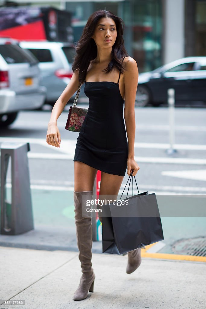 Model Aqua Parios attends call backs for the 2017 Victoria's Secret Fashion Show in Midtown on August 22, 2017 in New York City.