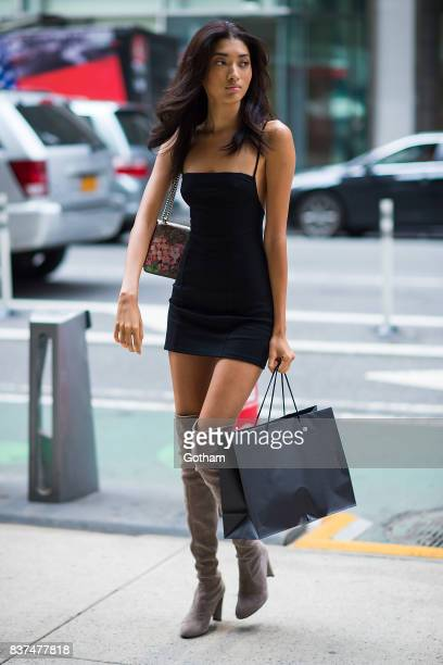 Model Aqua Parios attends call backs for the 2017 Victoria's Secret Fashion Show in Midtown on August 22 2017 in New York City