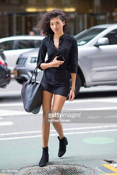 Model Aqua Parios attends the 2016 Victoria's Secret Fashion Show call backs on October 24 2016 in New York City