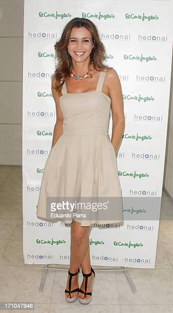 Model Arancha del Sol attends Hedonai Space photocall at El Corte Ingles store on June 21 2013 in Madrid Spain