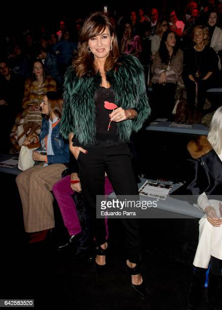 Model Arancha del Sol attends the front row of Moises Nieto show during Mercedes Benz Fashion Week Madrid Autumn / Winter 2017 at Ifema on February...