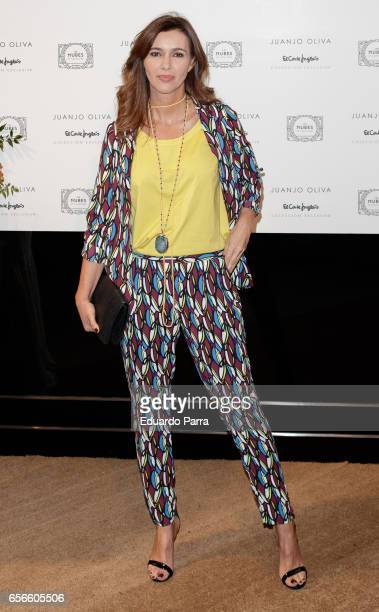Model Arancha del Sol attends the Juanjo Oliva's new collection parade at El Corte Ingles store on March 22 2017 in Madrid Spain