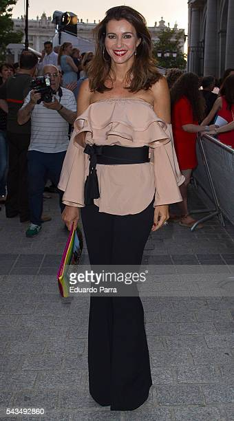Model Arancha del Sol attends the 'La moda en la calle' fashion show at Royal Theatre on June 28, 2016 in Madrid, Spain.