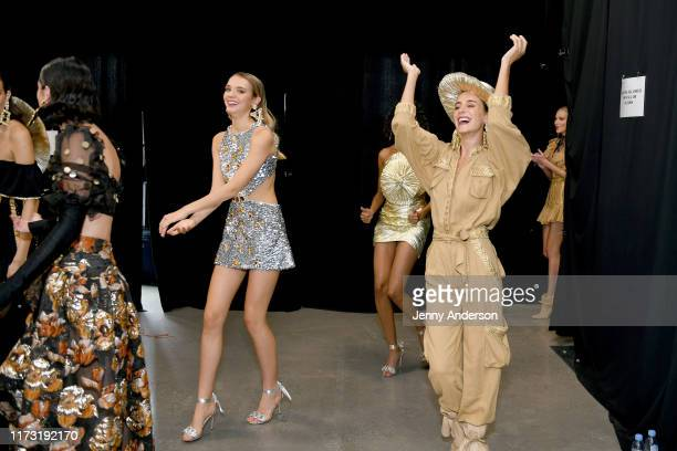 Model are seen backstage for Raisavanessa during New York Fashion Week: The Shows at Gallery I at Spring Studios on September 08, 2019 in New York...