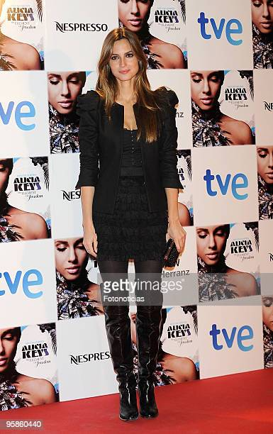 Model Ariadne Artiles arrives to Alicia Keys concert, at The Royal Theatre on January 18, 2010 in Madrid, Spain.