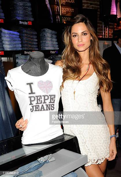 Model Ariadne Artiles attends the opening of 'Pepe Jeans' new store on June 2 2011 in Madrid Spain