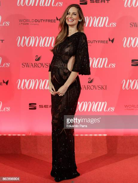 Model Ariadne Artiles attends the 'Woman 25th anniversary' photocall at Madrid Casino on October 18 2017 in Madrid Spain